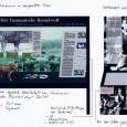 Entwurf für eine Ausstellungsvitrine zum Beutelwolf, entstanden während des Bewerbungsverfahrens 2001
